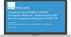 Update on China NMPA & US FDA Emergency Approval - Implications to Life Science Companies Relating to COVID-19