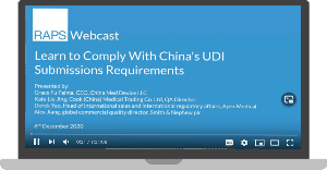 Learn to Comply With China's UDI Submissions Requirements